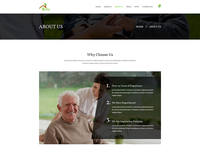 Senior Care PSD Template