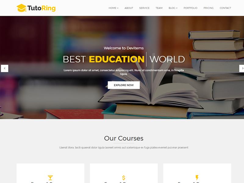Tutoring – Education HTML Template university teacher study school portfolio education college blog agency academic
