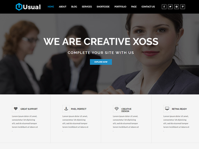 Usual – Multipurpose HTML Template website templates web design simple design html template corporate site clean templates clean  creative clean business web