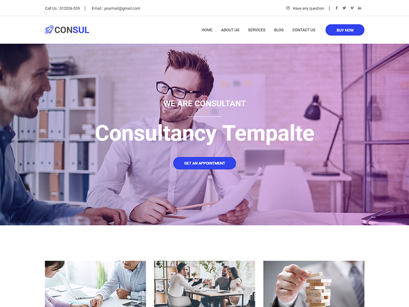 Consul – Consulting Business HTML Template modern creative corporate consultancy clean business agency