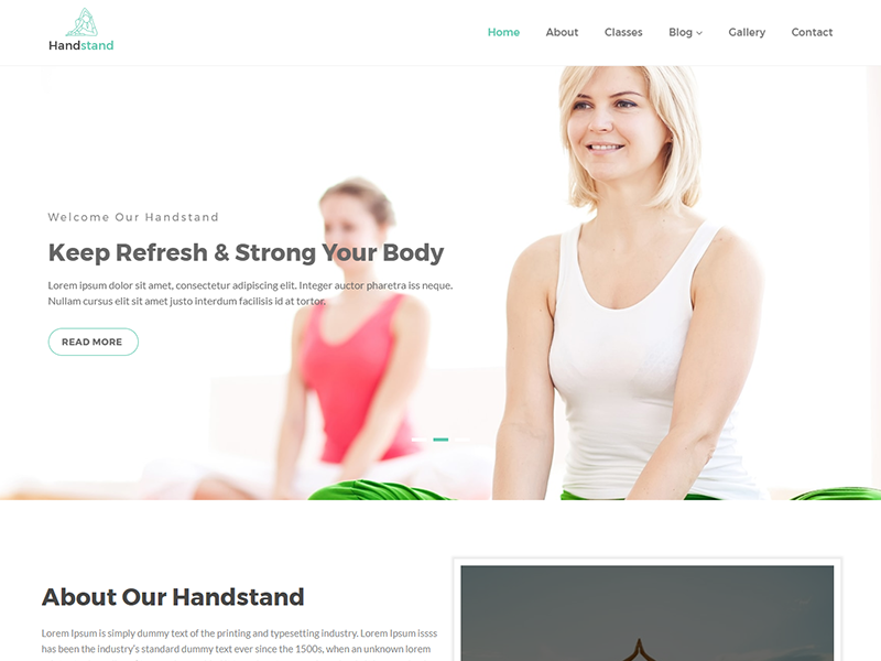 Handstand - Gym & Fitness WordPress Theme workout responsive personal trainer modern health club gym fitness gym coach gym fitness center fitness crossfit classes