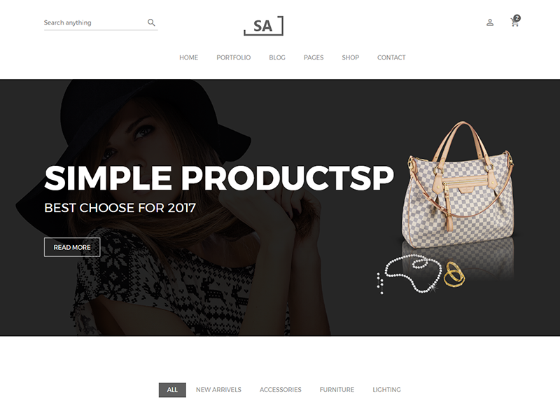 Sa - Minimalist eCommerce Template technology sport shopping responsive interior html5 furniture flowers fashion electronics clothes bootstrap