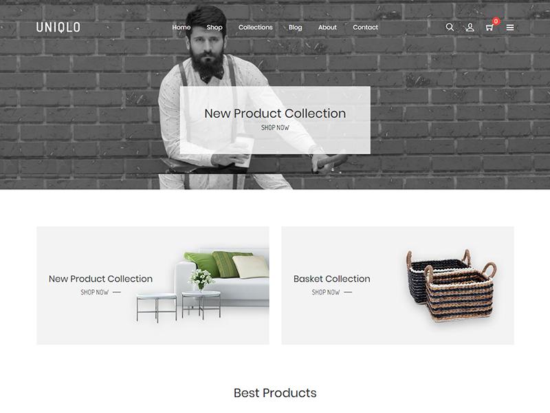 Uniqlo - Minimal eCommerce Shopify Theme technology minimal shopify theme interior html5 furniture flowers fashion electronics digital cookery clothes bootstrap