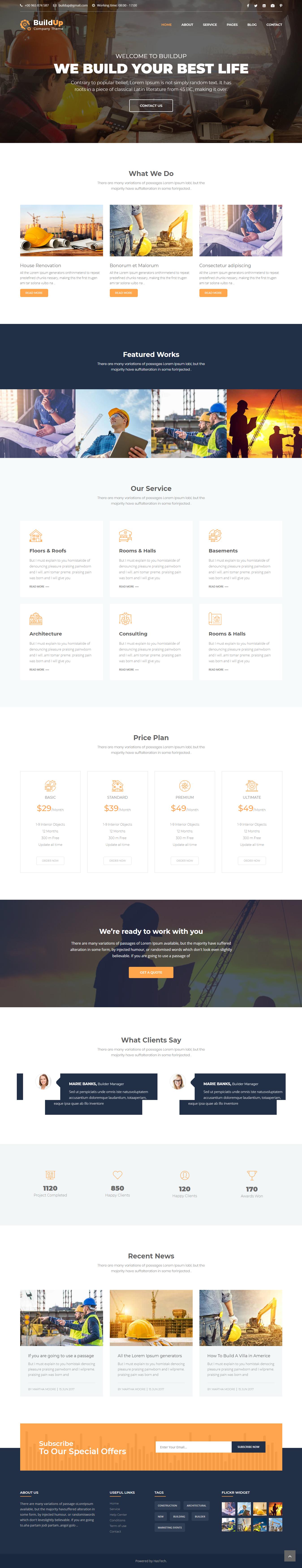 Buildup html