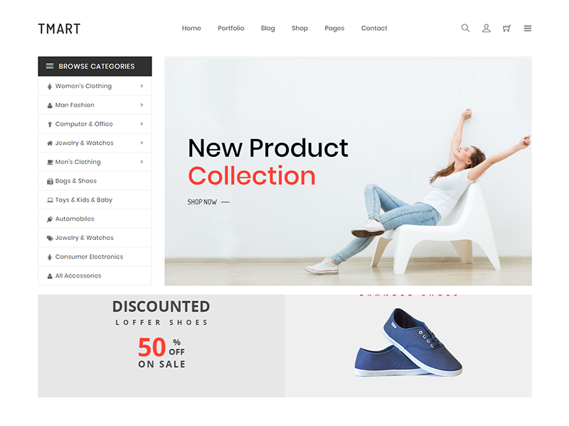 Tmart - Minimal eCommerce HTML5 Template technology sport shopping responsive portfolio minimal shop interior furniture flowers fashion clothes bootstrap
