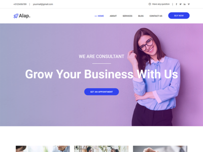 Alap - Business and Consultancy WordPress Theme
