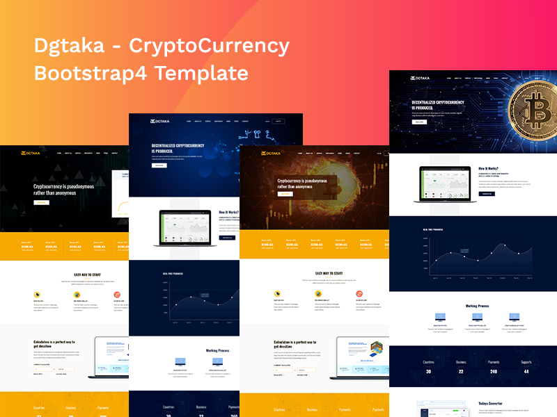 Dgtaka - CryptoCurrency Bootstrap4 Template exchange currency exchange digital currency currency exchange currency crypto trading crypto currency coin currency bitcoin trading bitcoin