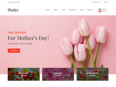 Phuler - Flower Shop Shopify Theme bootstrap responsive flowers wedding bouquets shopify theme shopify section gift garden flowers boutique flower store flower shop flower online shop flower arrangement flower events flower ecommerce decoration ceremony