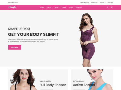 Slimfit - Shapewear E-Commerce Bootstrap 4 Template modern html5 responsive shopping wear sports shop product online shop health fitness fashion ecommerce e-commerce crossfit clothing clean beauty