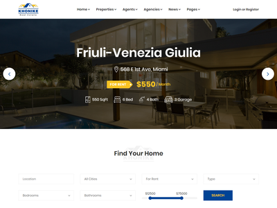 Khonike - Real Estate Bootstrap 4 Template rental realtor real estate agent real estate property listing property listing house listing home listing directory listing directory developer apartment agent agency