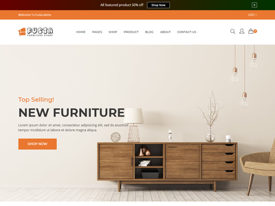 Fusta Furniture Shopify Theme supermarket shopping store shopping shopify shop responsive modern jewelry furniture fashion electronics ecommerce business accessories