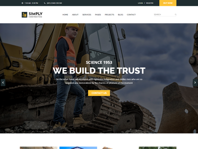 Construction HTML5 Template refinery plant oil and lubricant manufacturing industry industrial factory engineering energy corporate construction commercial business
