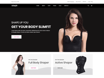 Shapewear e-Commerce Bootstrap 4 Template wear sports shop product online shop health fitness fashion ecommerce e-commerce crossfit clothing clean beauty