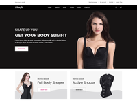 Shapewear e-Commerce Bootstrap 4 Template