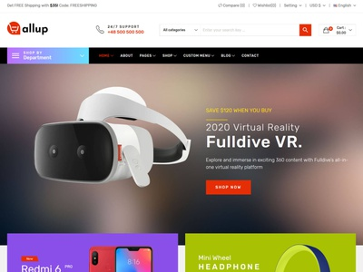 Allup – Electronics eCommerce HTML5 Template ecommerce html5 bootstrap store responsive products modern gadgets electronics shop electronics parts electronics electronic html digital products digital clean accessories