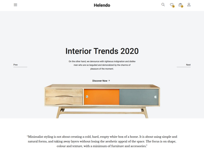 Helendo - Furniture eCommerce HTML Template shopping bootstrap html5 store shop responsive modern minimalis minimal lights lamp interior html furniture fashion ecommerce decoration clean
