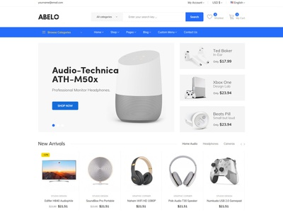 Abelo – Electronics eCommerce HTML5 Template shopping html5 bootstrap store responsive products modern gadgets electronics shop electronics parts electronics electronic html digital products digital clean accessories