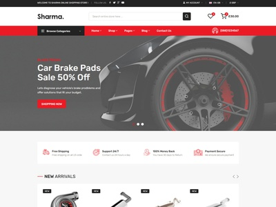 Sharma – Car Accessories Shop HTML Template responsive bootstrap spare parts shop responsive html online store modern mechanic clean car store car part car accessories bike parts automotive auto parts accessories auto accessories