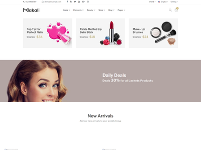 Makali   Multipurpose HTML Template store skincare shop responsive perfume modern makeup interior furniture fashion ecommerce cosmetic beauty products beauty