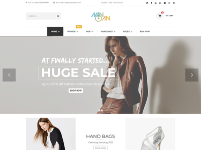 Minoan   Fashion WooCommerce Theme superstore stylish shopping shop responsive model leather fashion ecommerce digital clothes clean bootstrap
