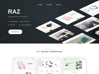 Raz   Furniture Store HTML5 Template responsive modern kitchen furniture interior html5 hotel home accessories furniture decoration decor bootstrap4 bathroom furniture architecture