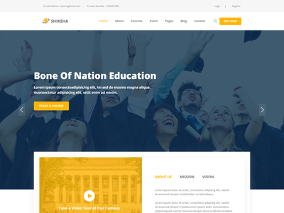 Education HTML Template   Shiksha university training center study responsive online school online course learning educational education html education course education center education college academia