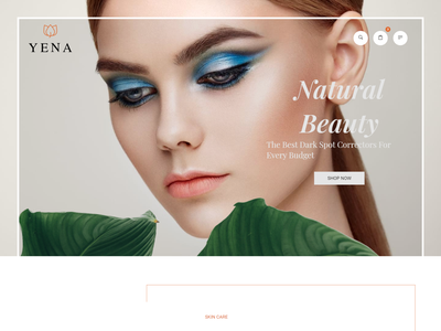 Yena   Beauty   Cosmetic HTML Template store skin care shopping shop responsive html products perfume modern makeup html5 ecommerce template cosmetics clean beauty center beauty