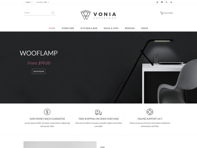 Vonia   Furniture Store HTML Template shop responsive online shop modern lights lamp kitchen furniture interior design furniture store furniture shop furniture clean bootstrap bathroom furniture