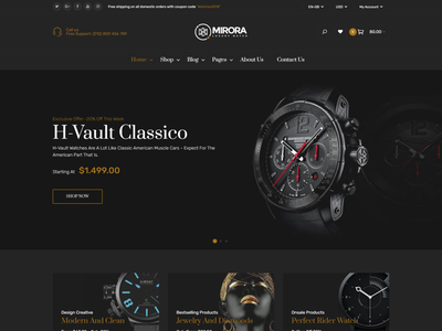 Mirora   Watch and Jewelry Store Bootstrap 4 Template women watch watches luxury watches watch store watch shop responsive html modern man watch jewelry diamond cosmetic shop beauty