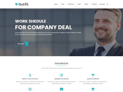 Outfit   Business  Consultancy Corporate WordPress Theme service responsive wordpress private company insurance industry wordpress financial creative agency corporate website corporate creative corporate accountant consulting wordpress clean design business agency theme advisory