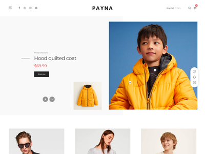 Payna   Minimal eCommerce HTML Template t-shirt responsive online shop modern minimalist luxury fashion furniture flower fashion cosmetic clothing bag store accessories