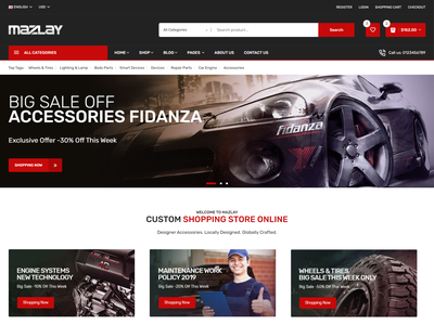 Mazlay   Car Accessories Shop HTML Template spare parts shop responsive online store modern mechanic ecommerce clean car store car part car accessories bike parts automotive auto parts accessories