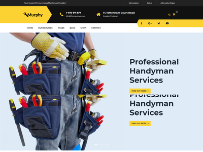 Murphy   Home Maintenance   Repair Service HTML Template worker responsive repair service repair renovation template plumber modern industry handyman architect electrician contractor constructor construction html clean building