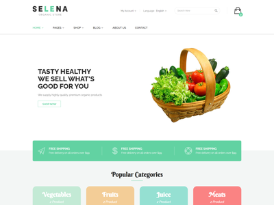 Selena   Organic Food Shop HTML Template store shop responsive products organic fruit organic nature natural modern grocery fresh food ecommerce eco food agriculture