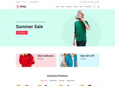 Oility - React Next JS Multipurpose eCommerce Template responsive react template minimal react ecommerce template react next js template
