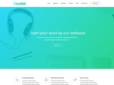 Softee - Multipurpose Software  SaaS Product Theme software presentation wp theme wordpress app landing page theme web app wordpress theme technology wp theme landing page wordpress themes