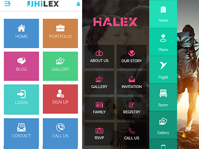 Jhilex - Mobile & App HTML Template by HasTech - Dribbble