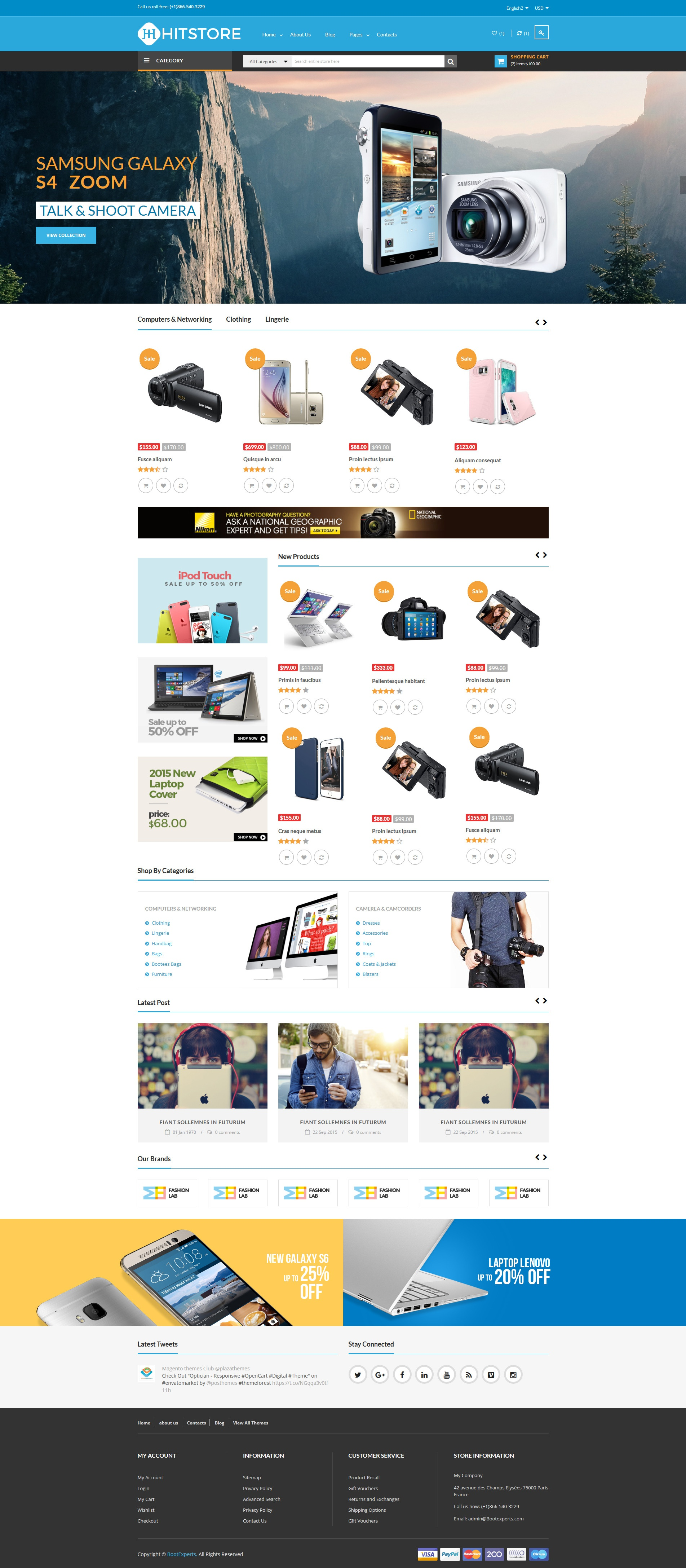 Dribbble Hitstore Electronics Ecommerce Bootstrap Templateg By