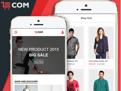 eCom - Mobile & App HTML Template by HasTech on Dribbble