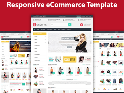 Sagitta - Responsive eCommerce HTML Template by HasTech - Dribbble