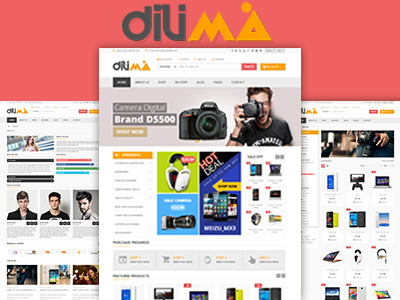 Dilima Mega Store Responsive Html Template By Hastech On Dribbble