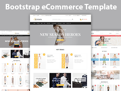 Zeiran Fashion Bootstrap Ecommerce Template By Hastech Dribbble