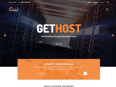 Gethost - Responsive Hosting Template