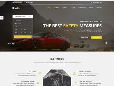 DriveOn – Driving School WordPress Theme