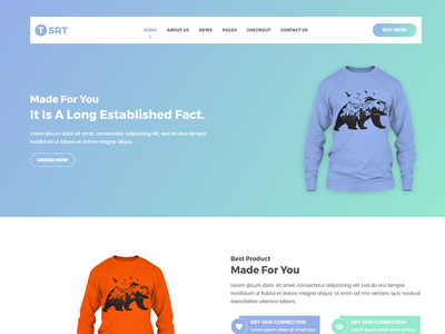 Tsrt Single Product ECommerce Template By HasTech Dribbble - Single product ecommerce template
