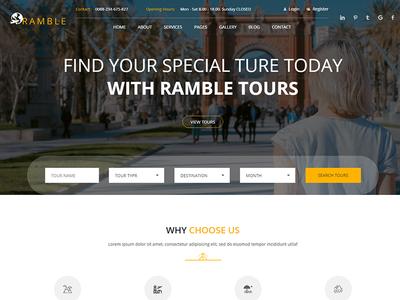 Ramble - Creative Travel Agency HTML Template