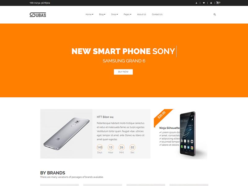 Subas – Electronics WooCommerce WordPress Theme tools store shopping modern mobile phone megamenu html5 electronics template electronics store electronics digital bootstrap