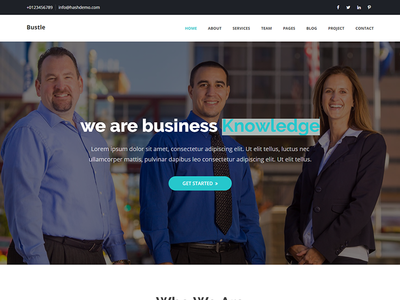 Bustle - Corporate HTML Template by HasTech - Dribbble