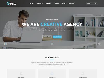 Corpex – Corpotate HTML Template website templates web design simple design html template corporate site clean templates clean  creative clean business web