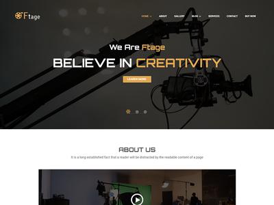 Ftage - Movie Film Marketing WordPress Theme by HasTech - Dribbble